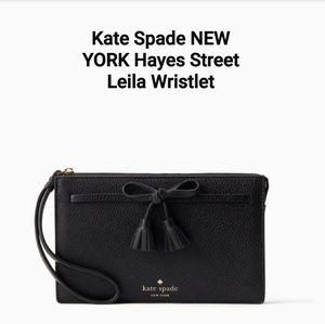 NWOT Kate Spade NEW YORK HayesStreetLeila Wristlet